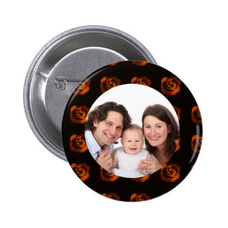 Rose/ Photo 2 Inch Round Button