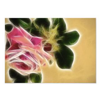 "Rose Photo Fractal 5"" X 7"" Invitation Card"