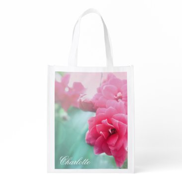 DecorativeHome Rose photo Personalized reusable shopping bag