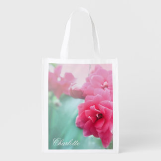 Rose photo Personalized reusable shopping bag Grocery Bag