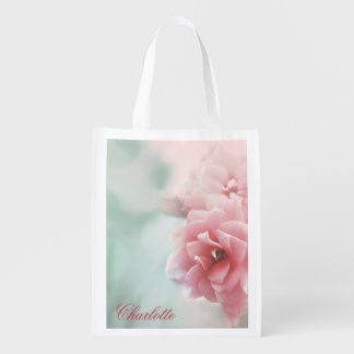 Rose photo Personalized reusable shopping bag Market Totes