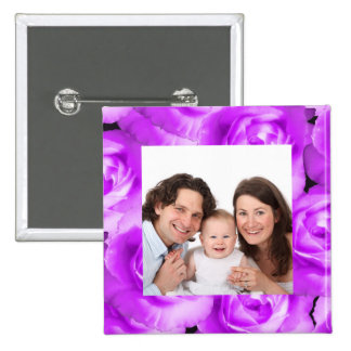 Rose/ Photo Pinback Button
