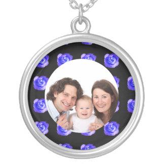 Rose/ Photo Round Pendant Necklace