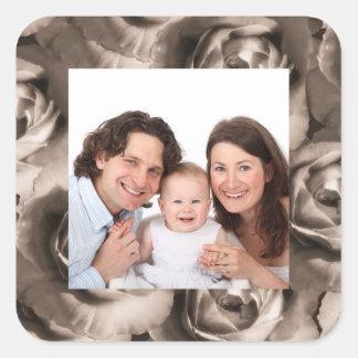 Rose/ Photo Square Sticker