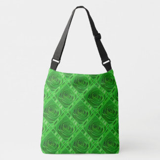 Rose Photography Emerald Green Lace and Satin Crossbody Bag