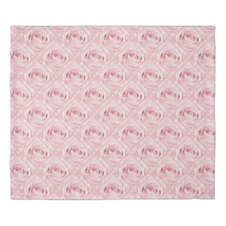 Rose Photography Pink lace and Satin Digital Art Duvet Cover