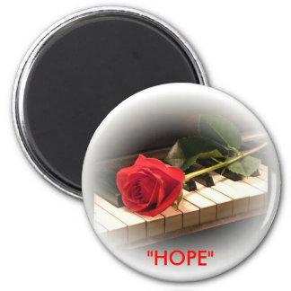 "Rose&Piano ""HOPE"" magnet"