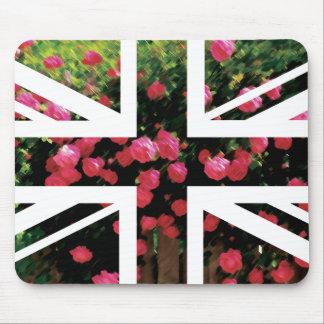 Rose Picture Union Jack British(UK) Flag Mouse Pad