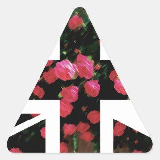 Rose Picture Union Jack British(UK) Flag Triangle Sticker