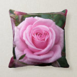 Rose Pillow Personalized Pink Rose Pillow Decor
