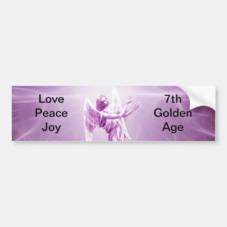 Rose pink Angel flame of love Bumper Sticker