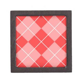 Rose & Pink Argyle Gift Box