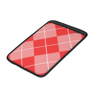 Rose Pink Argyle Sleeve For MacBook Air