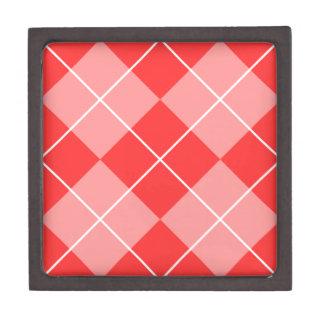 Rose & Pink Argyle Jewelry Box