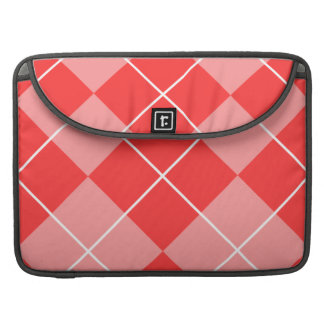 Rose Pink Argyle Sleeves For MacBook Pro