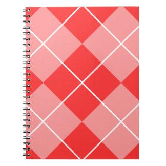 Rose & Pink Argyle Spiral Notebook