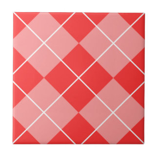 Rose & Pink Argyle Tile