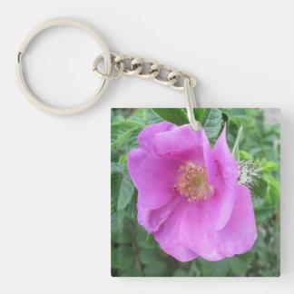 Rose Pink Beach Plum Keychain