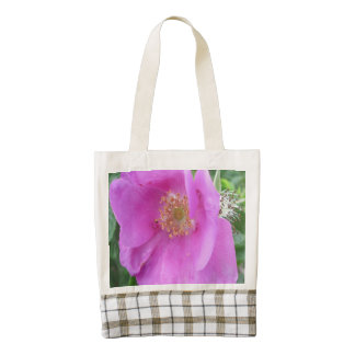 Rose Pink Beach Plum Zazzle HEART Tote Bag