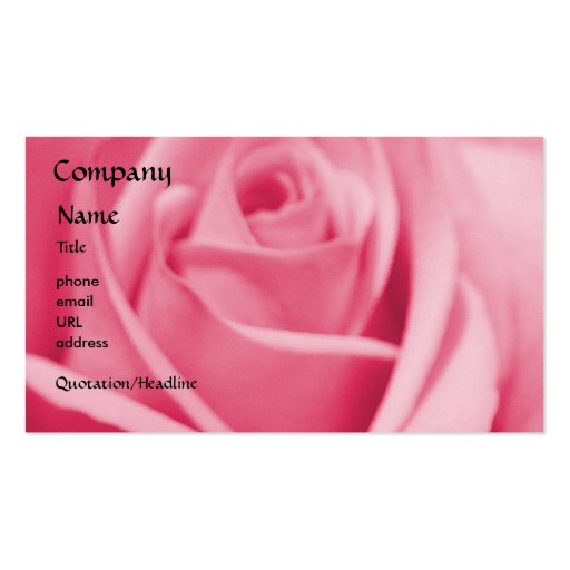 Rose - Pink - business card template