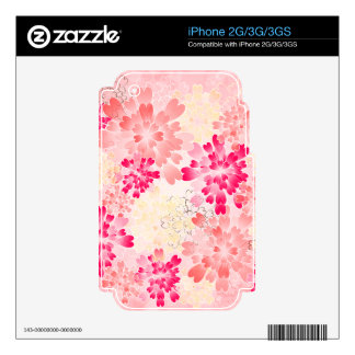 Rose Pink Champagne Flowers Retro iPhone 3 Skins