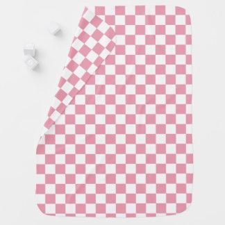 Rose Pink Checkerboard Pattern Receiving Blanket