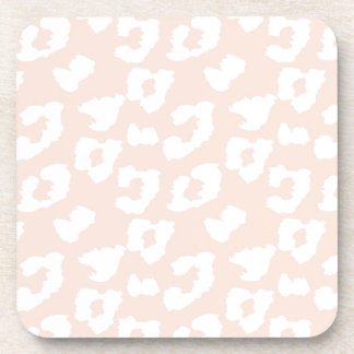 Rose Pink Cheetah Leopard Print Coasters