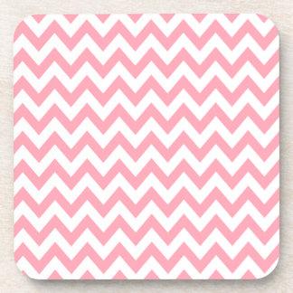 Rose Pink Chevron Coasters