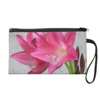 Rose Pink Crinum Lily Wristlet Bagettes Bag