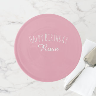 Rose Pink Custom Personalized Cake Stand