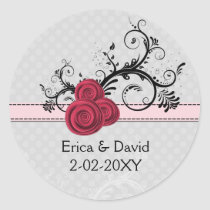 rose pink  envelope seals