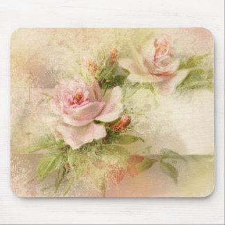 Rose pink feminine ladies mouse pad