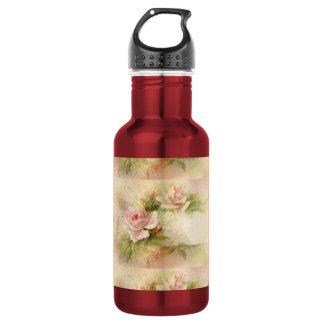 Rose pink feminine ladies stainless steel water bottle
