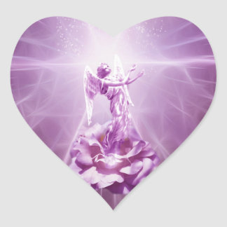 Rose pink flame of love heart sticker