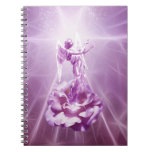 Rose pink flame of love spiral note books