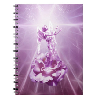 Rose pink flame of love spiral notebook