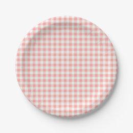 Rose Pink Gingham Check Plaid / Small Checkerboard Paper Plate  sc 1 st  Zazzle & Checkerboard Plates | Zazzle