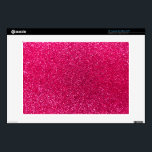 """Rose pink glitter 13&quot; laptop skin<br><div class=""""desc"""">Trendy and modern rose pink glitter gift ideas,  (not real glitter). Ideal for women,  girls and teenagers.</div>"""