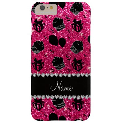Rose pink glitter cupcakes balloons presents barely there iPhone 6 plus case