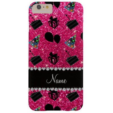 Rose pink glitter hats cake presents balloons barely there iPhone 6 plus case