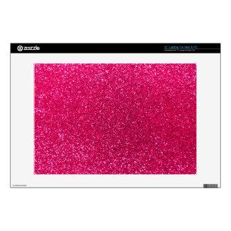 Rose pink glitter laptop decal