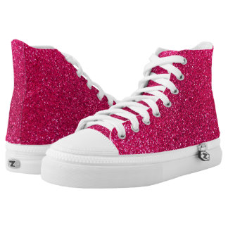Rose pink glitter printed shoes