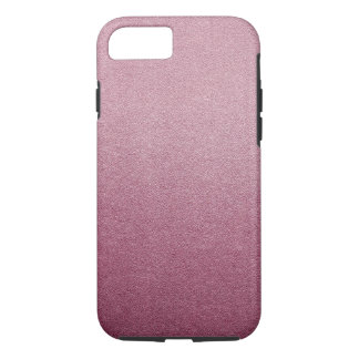 Rose Pink Glitter Sand Visual Texture Ombre Light iPhone 7 Case