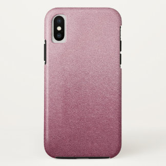 Rose Pink Glitter Sand Visual Texture Ombre Light iPhone X Case