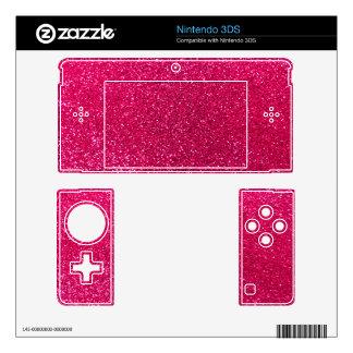 Rose pink glitter skins for 3DS