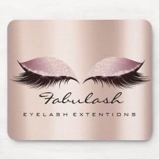 Rose Pink Glitter SPA Beauty Lashes Extension Skin Mouse Pad