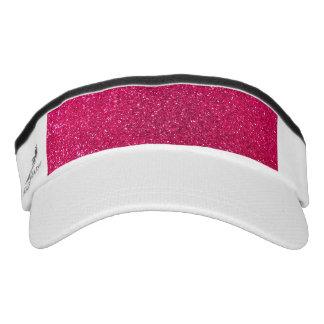 Rose pink glitter headsweats visors