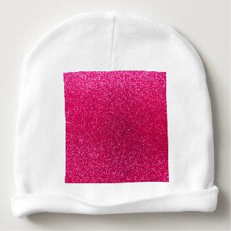 Rose pink glitter baby beanie