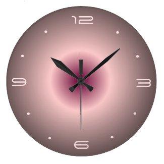 Rose Pink Illuminated Design> Round Wall Clocks