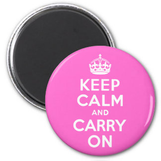 Rose Pink Keep Calm and Carry On Magnet
